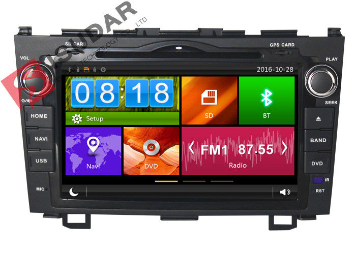 Honda CRV Car GPS Navigation DVD Player 8 Inch Double Din Car Stereo Dynamic User Interface