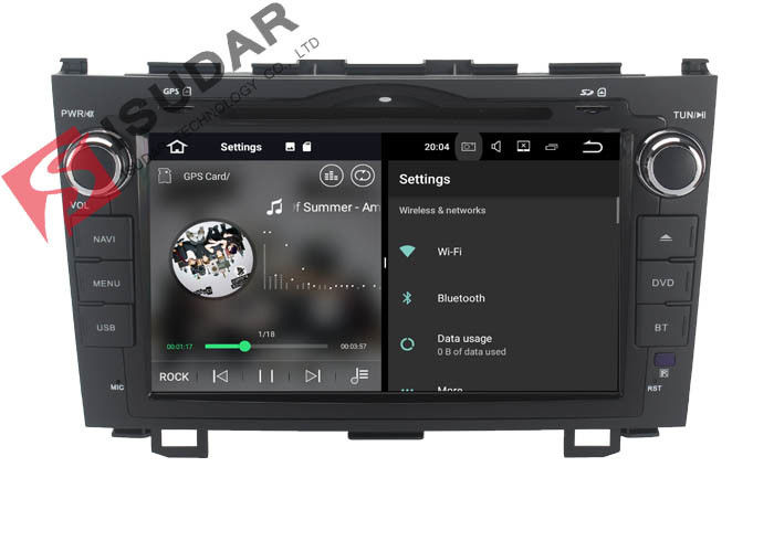 8 Inch HD Screen Android Touch Screen Car Radio , HONDA CRV DVD Player Head Unit