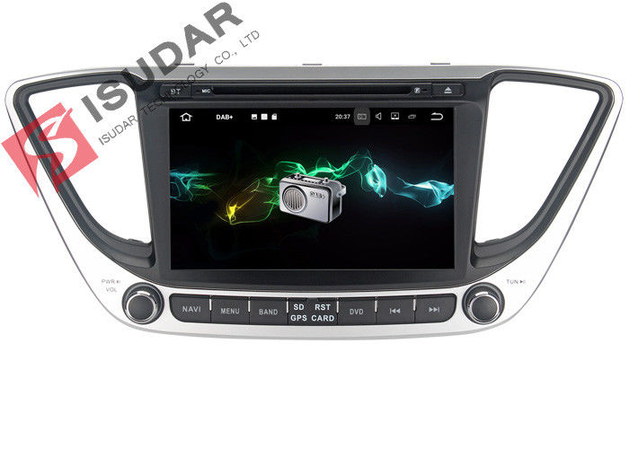 Multi Touch Screen Android Car Navigation System DVD GPS For Hyundai Verna / Solaris 2017